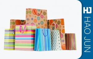 China 250g Gift Packaging Bags / Personalized Store Bags CMYK Printing on sale