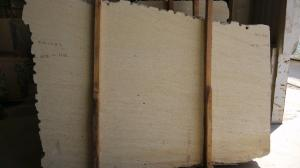 China Yellow Sandstone slab for wall cladding on sale