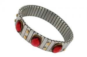 China Chapeamento de ouro da saúde no ímã de pedra da borda + bracelete magnético de aço inoxidável on sale