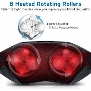 China Ergonomic Design Homedics Back And Neck Massager With Soothing Heat supplier