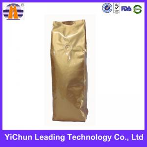 China Coffee packaging customized side gusset  plastic bag with vavle on sale