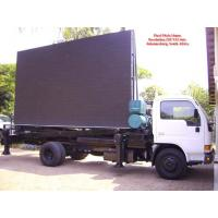 Aluminum or Iron Full Color Led Mobile Billboard on Vehicles P10 1R1G1B IP65 220V / 50Hz