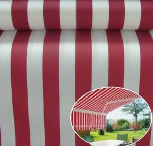 China Sunshade Polyster Fabric Yellow Stripe Outdoor UV Protection Polyester Fabric Awnings, Boat covers, bimini tops, sail-co on sale