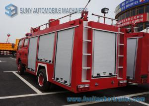 China Water Tank / Dry Powder Fire Fight Truck With Double Row / Air Braking on sale