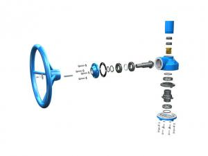 China Globe Valve Gate Valve Gearbox  IP67 Multi - Turn Spur Gear Operators on sale