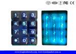 Illuminated Indoor Access Control Zinc Alloy Metal Keypad With 12 Keys