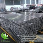3mm Folded Aluminum Perforated Metal Sheet , Perforated Aluminum Screen