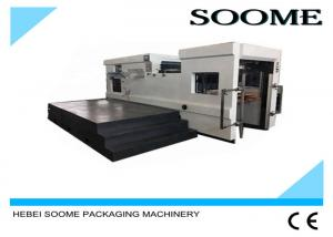 China Computerized Flat Die Cutting Creasing Machine With Omron PLC Control on sale