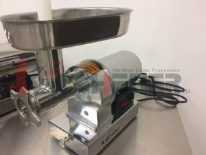 China Stainless Steel Electric Meat Shredder Machine With Steel Coarse / Medium Cutting Plate on sale