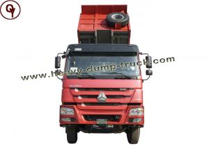 China Red Color 3 Axles Ten Wheelers Heavy Dump Truck HOWO For Construction Work on sale