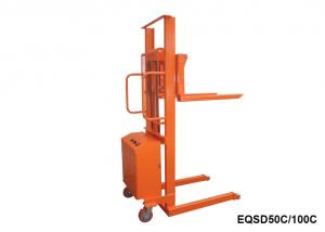 China Small Electric Stacker Truck , Fixed Electric Hand Pallet Truck 500Kg Capacity on sale