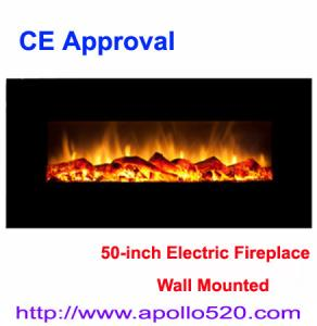 China CSA Electric Wall Fireplace Logs with Heater on sale