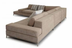 Quality Luxury modern sectional sofas ,  Corner Modern Fabric Sofas , Italian sofas designs for sale