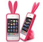 Peau de caisse de silicone de Rabit de lapin pour l'iPhone 4