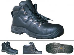China geniune leather safety shoes with steel toe plate on sale