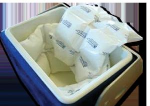China 100g cooling mini ice pack for food storage or transportation on sale