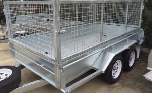 China 10 x 6 remolques comunes del cajón del acero/remolque en tándem de la jaula para el transporte de animales on sale