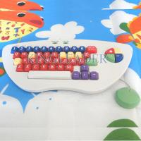 Spill-proof and washable children color keyboard with oversize keys K-800