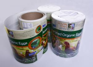China Custom full color printing self adhesive paper food labels for eggs packaging on sale