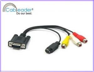 China 24K Gold plated 15 pin male rejection of EM and RF interference VGA Monitor Cables on sale