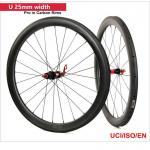 50mm Clincher Carbon Road Bike Wheels UD Matt Paiting 3k/12k Matt / Glossy Finish