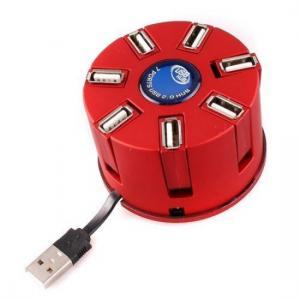 China Portable USB 2.0 Cylindrical 7 Port USB HUB with USB Cable on sale