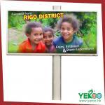 Anti-shock& la publicidad al aire libre de la corrosión hizo excursionismo la cartelera, tablero grande de la señalización