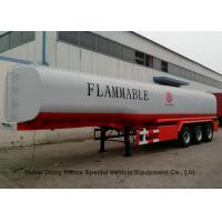 Liquid Flammable Petrol Oil Tank  Semi Trailer 3 Axles For Diesel Gasoline ,Oil , Kerosene 44000Liters Transport
