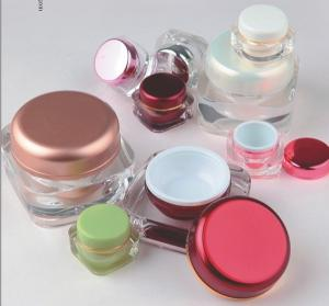 Quality Mini capacity Acrylic Plastic Cosmetic Jar for sale