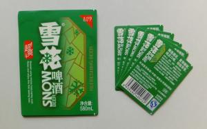 China Professional manufacturer Aluminium foil beer Bottle Neck Labels Custom Printing Wet Strength Adhesive Paper Beer Label on sale