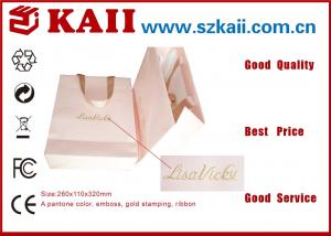 China Eco-Friendly OEM Brown Kraft Paper Bag / Recyclable Greeting Paper Gift Bag on sale