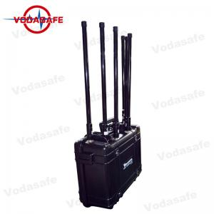 China Pelican Shell 75W Drone Frequency Jammer , Anti Drone Jammers 27V 20Ah Power Supply on sale
