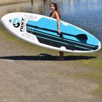 175L Volume Fiberglass Stand Up Paddle Board All Around 15PSI Pressure 10'6 X 32 X 4