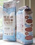Sac latéral fait sur commande d'emballage de café de gousset, poche de café de papier d'aluminium d'ANIMAL FAMILIER/AL/PE