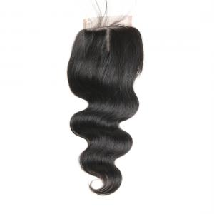 China 18 Inch Real Human Hair Lace Closure , Virgin Human Hair Lace Front Wigs on sale