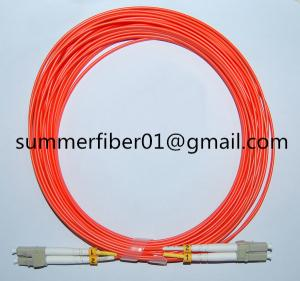 China Duplex MM LC Fiber Optic Cable Assembly on sale