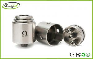 China Dual Coil Rda Omega E Cig Dry Herb Vaporizers stainless steel 1.5ohm OEM ODM on sale