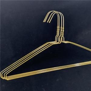 China Lightweight Wire Dry Cleaning Hangers Powder Coated Surface For Laundry Store on sale
