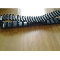 Black Small Snowmobile Rubber Track High Running Speed With 24 Link