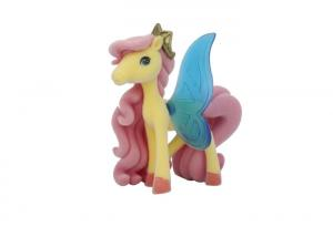 China Soft PVC Pony Plastic Figures Toys Attractive Golden Crown BSCI Approval on sale