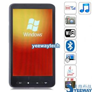 China Quad Band Windows Mobile 6.5 WiFi GPS Bluetooth Camera 4.3 - inch Touch Screen China Phone on sale