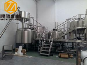 China SS 5000L Beer Production Equipment Complete System 2mm Cladding on sale