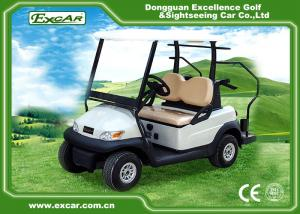 China Excar Mini 2 Person Second Hand Golf Cars 48V Trojan Battery With Caddie Plate on sale