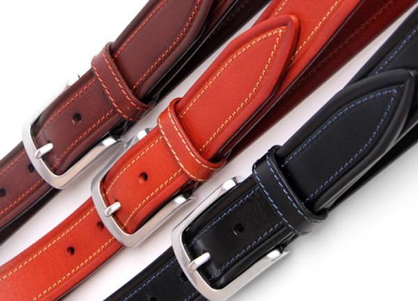 "35mm Men/'s Italian Leather Casual Dress Belt 1-3//8/"" Wide Made in Italy Ocean"