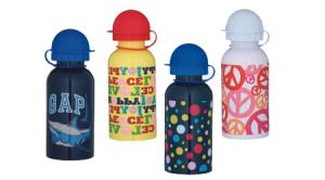 China Sports Reusable Stainless Steel Water Bottles With Different Logos , Leak Proof Screw Lid on sale