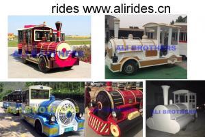 China Theme Park 42 seats Tourism Train Trackless Travel Train on sale