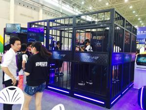 China Multiplayer Battle Game VR Theme Park Zombie Shooting 4 Person Alliance on sale