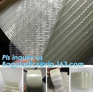 China Glass Mesh carpet tape,PET film glass fiber mesh tape,Fiberglass mesh tape for gypsum,160Mic Backing Fiberglass Double S on sale