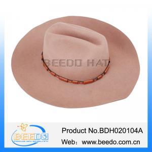 2b52a7963b4 Quality Fashion upturn brim wool felt cowboy hat wholesale from china for  sale