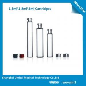 China Customized Insulin Pen Refill Cartridge , Drug Cartridge Aluminum Cap on sale
